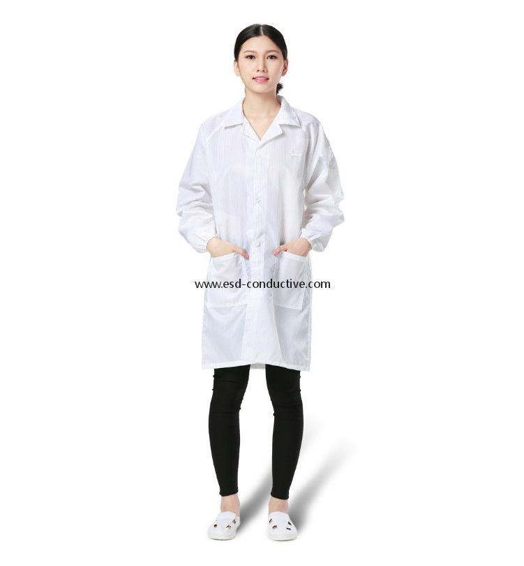 China Factory Antistatic Garment/ESD Garment/Antistatic smock EC-04