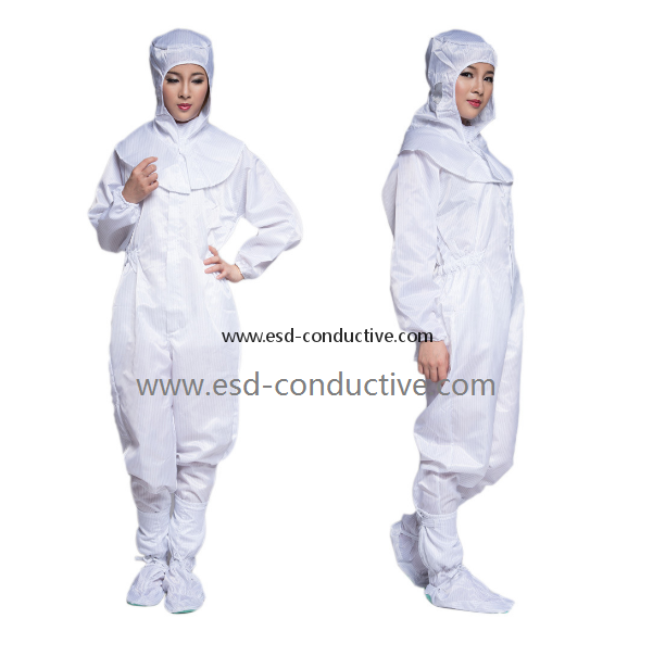 China Factory Antistatic Coverall clothes/ESD Conjoined Clothes EC-02