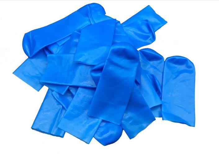 Whole Sale Cleanroom Class 100 Blue Rubber Finger Cots