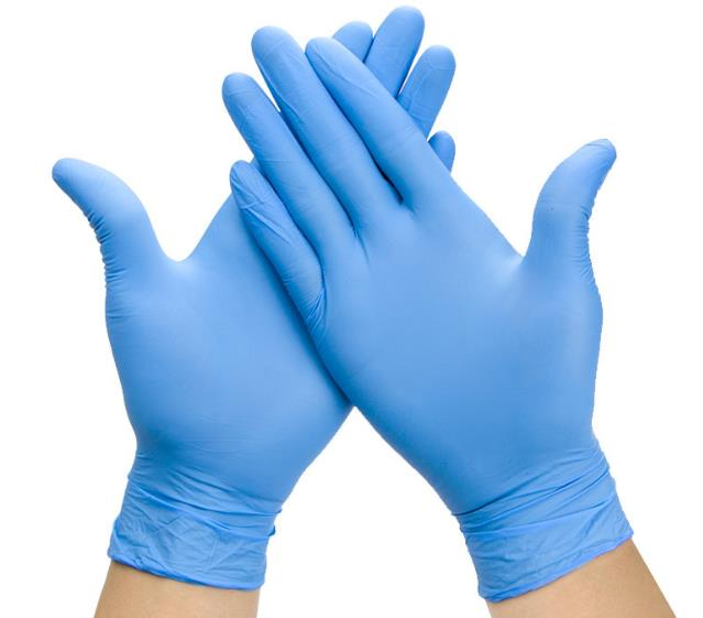 "8 ""Clean-Room Light Blue Anti-Static ESD Nitrile Gloves"